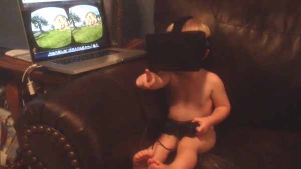 2 year old oculus rift video