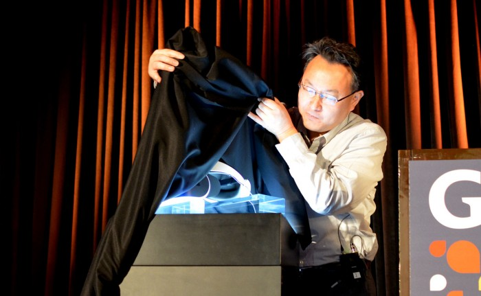 Sony's Morpheus VR headset being revealed at GDC 2014