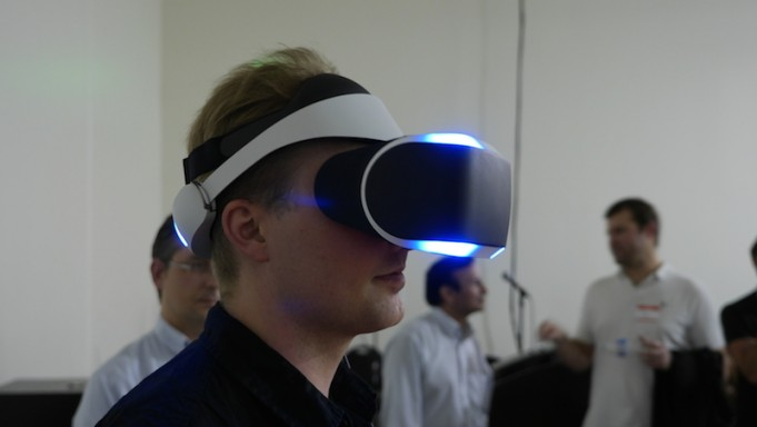 6837bd09a1a5 Sony Morpheus VR Headset Shown in Public for First Time at SVVR Meetup  10