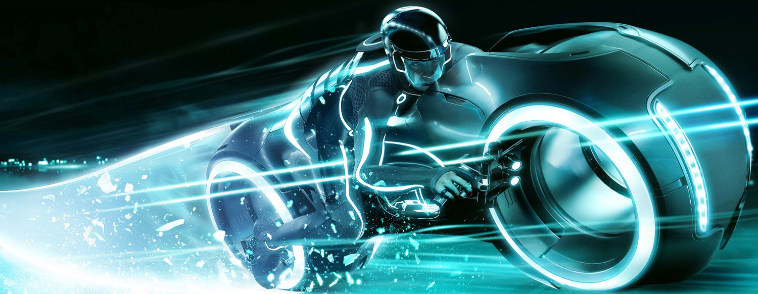 you can finally ride the light cycle from 'tron: legacy' in virtual