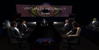 Virtually Incorrect with Gunter is a live talk show held in virtual reality.