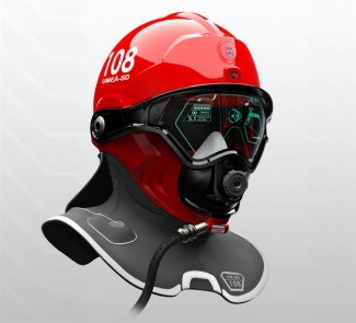 "The ""C-Thru Smoke Diving Helmet"" designed by a graduate students named Omer Haciomeroglu is similar to what DAQRI is working on for Firefighters."