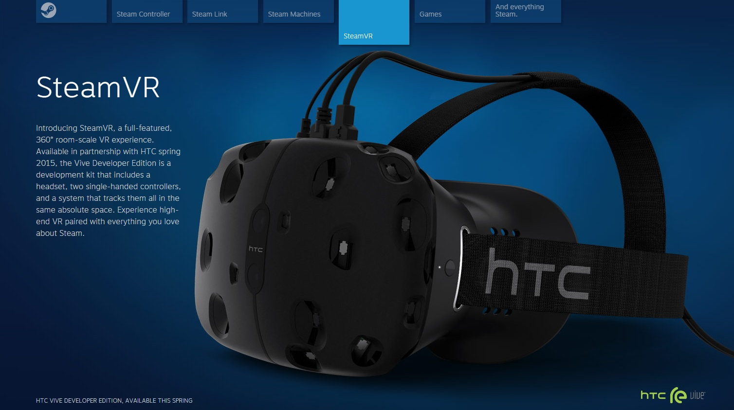 New Steam Page Suggests HTC Vive November Release – Road to VR