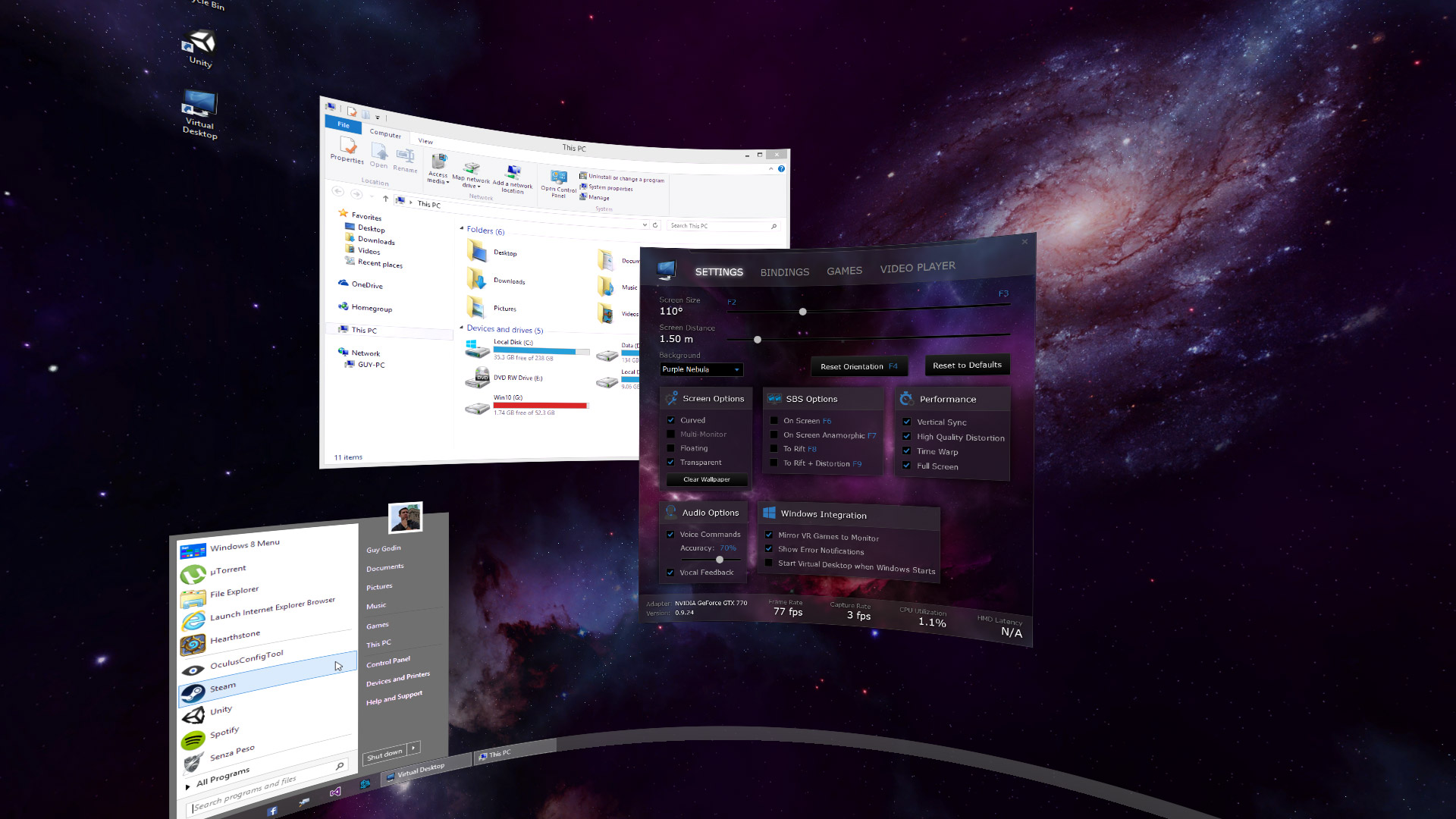 the latest version of 'virtual desktop' is here, the free app that