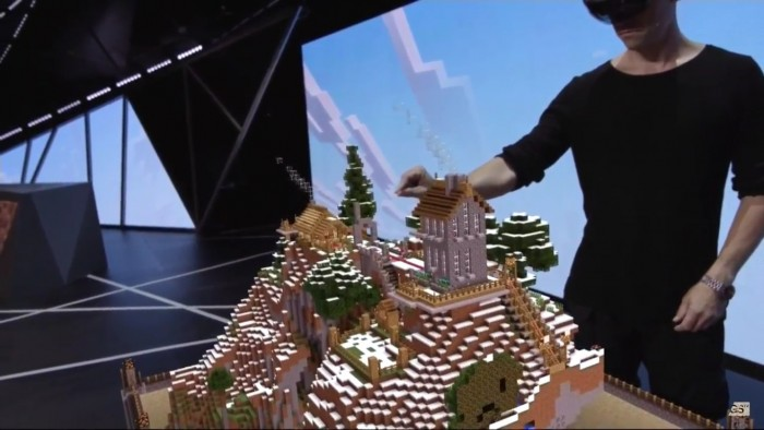 table top hololens minecraft