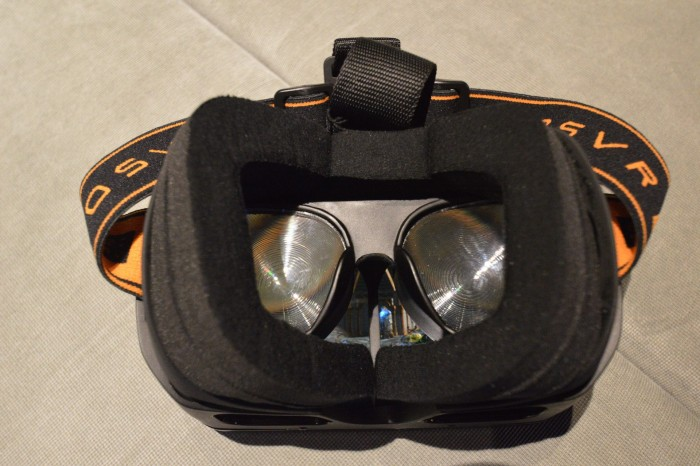 An early prototype featuring Wearality 150 degree FoV lenses fitted