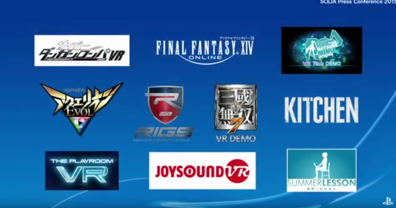 Playstation VR Initial Japanese Games Line Up Revealed, Includes