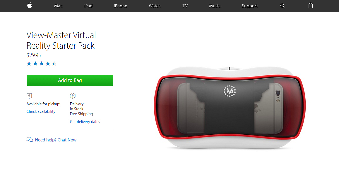 Apple is Selling the ViewMaster Virtual Reality Viewer – Road to VR