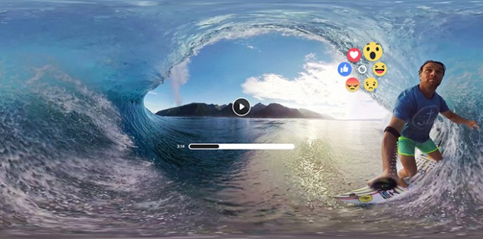 facebook 360 video likes and reactions in virtual reality facebook
