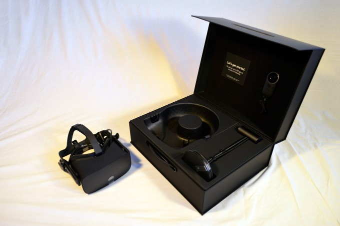 closeup with new  oculus rift   touch bundle  u2013 ships with