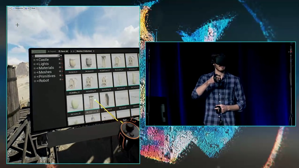 Unreal Engine VR Editor Demonstrated on Oculus Rift and