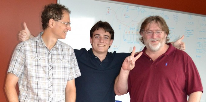palmer-luckey-with-gabe-newell-and-michael-abrash