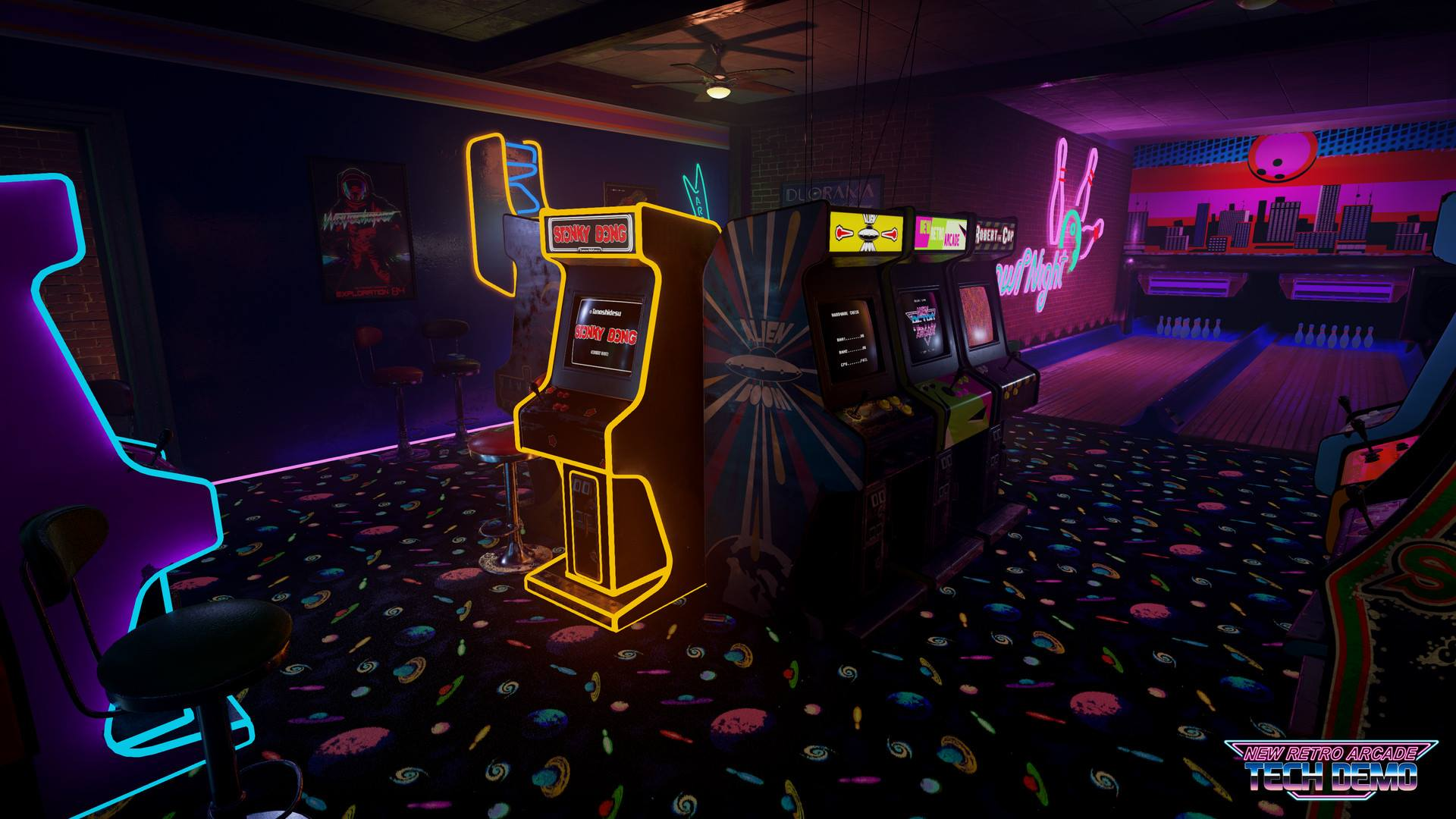 Vintage Arcade Games >> 'New Retro Arcade' Tech Demo Launches with HTC Vive Support on Steam