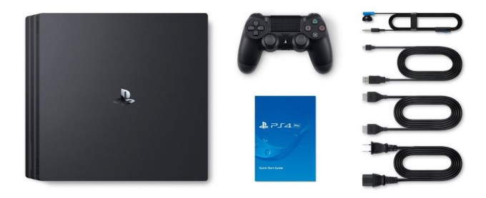 PlayStation 4 Pro's Box Contents