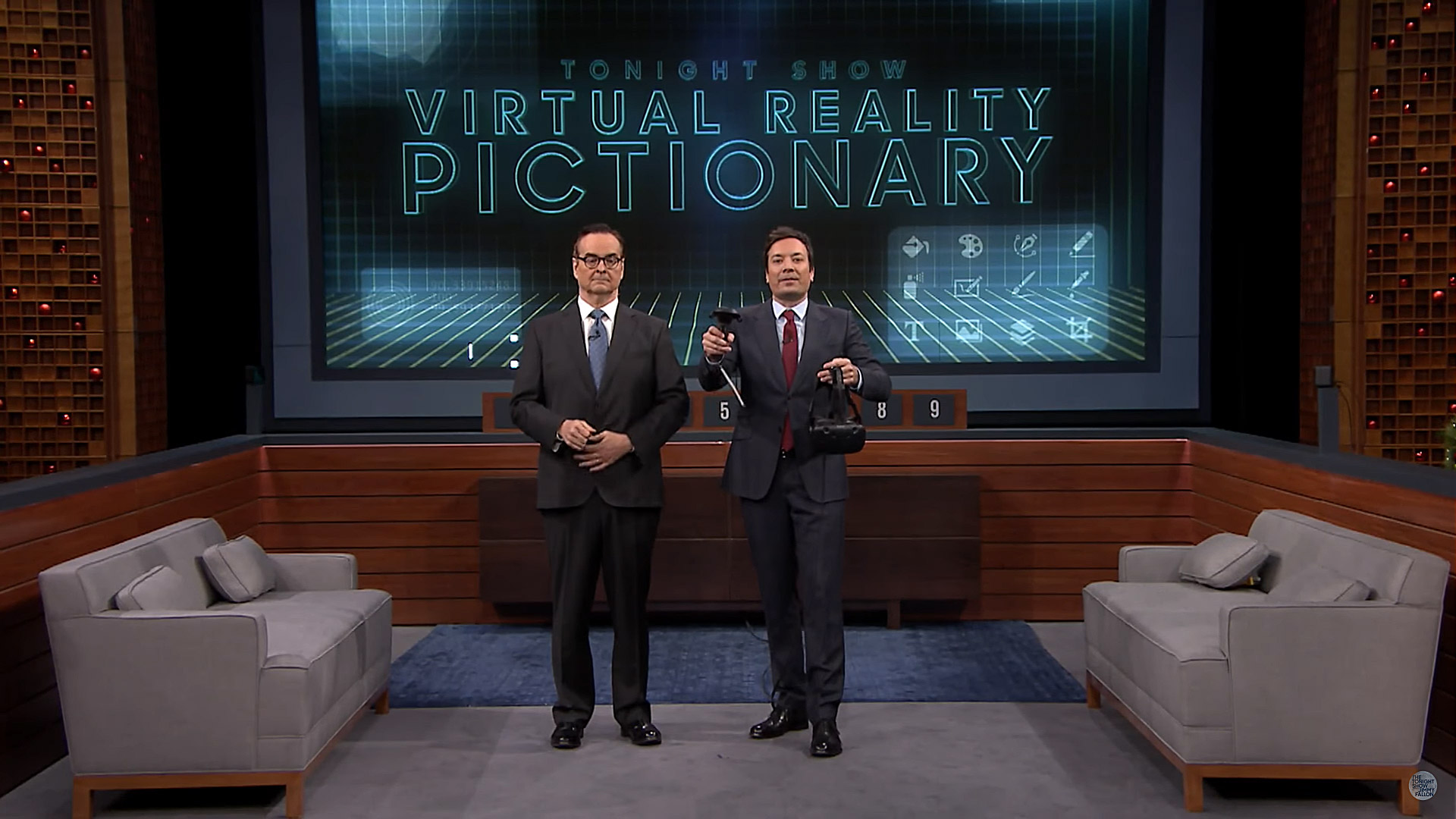 Jimmy Fallon's Tonight Show Debuts Virtual Reality Pictionary Segment with 'Tilt Brush'
