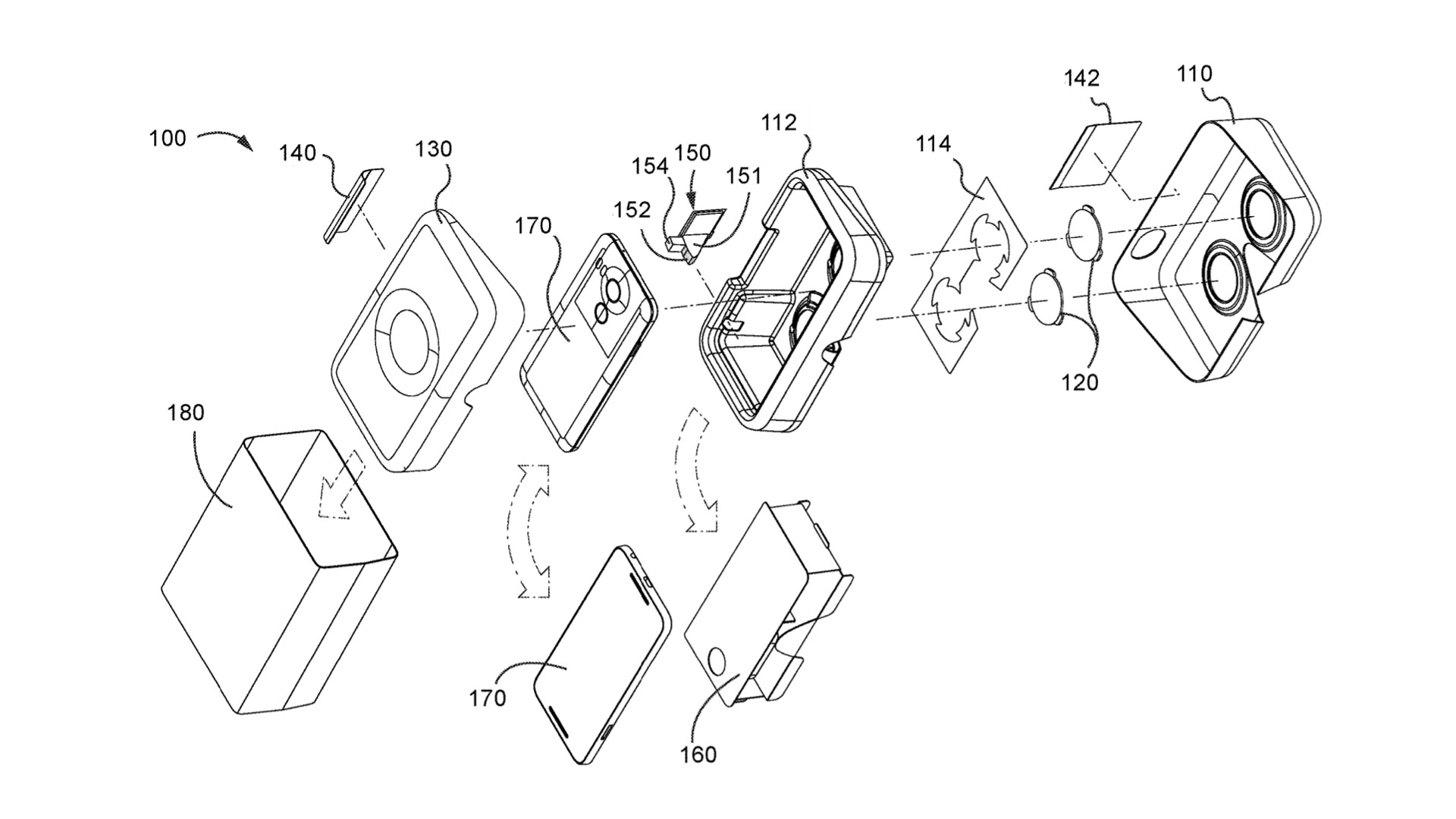 google patent shows smartphone packaging that doubles as a