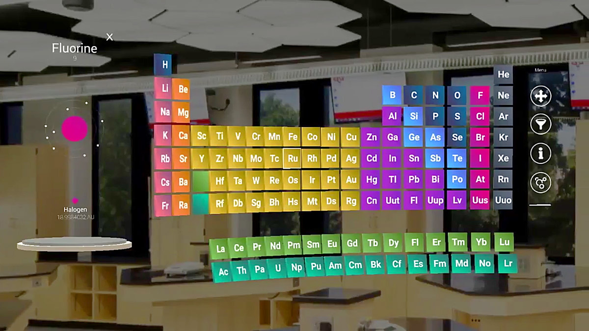 Mylab on hololens brings an interactive periodic table to the mylab on hololens brings an interactive periodic table to the chemistry classroom urtaz Gallery