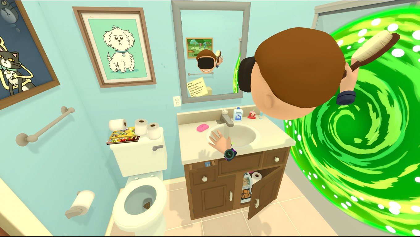 Job Simulator Virtual Reality >> 'Rick and Morty' VR Game is Releasing on Oculus Rift and HTC Vive April 20th – Road to VR