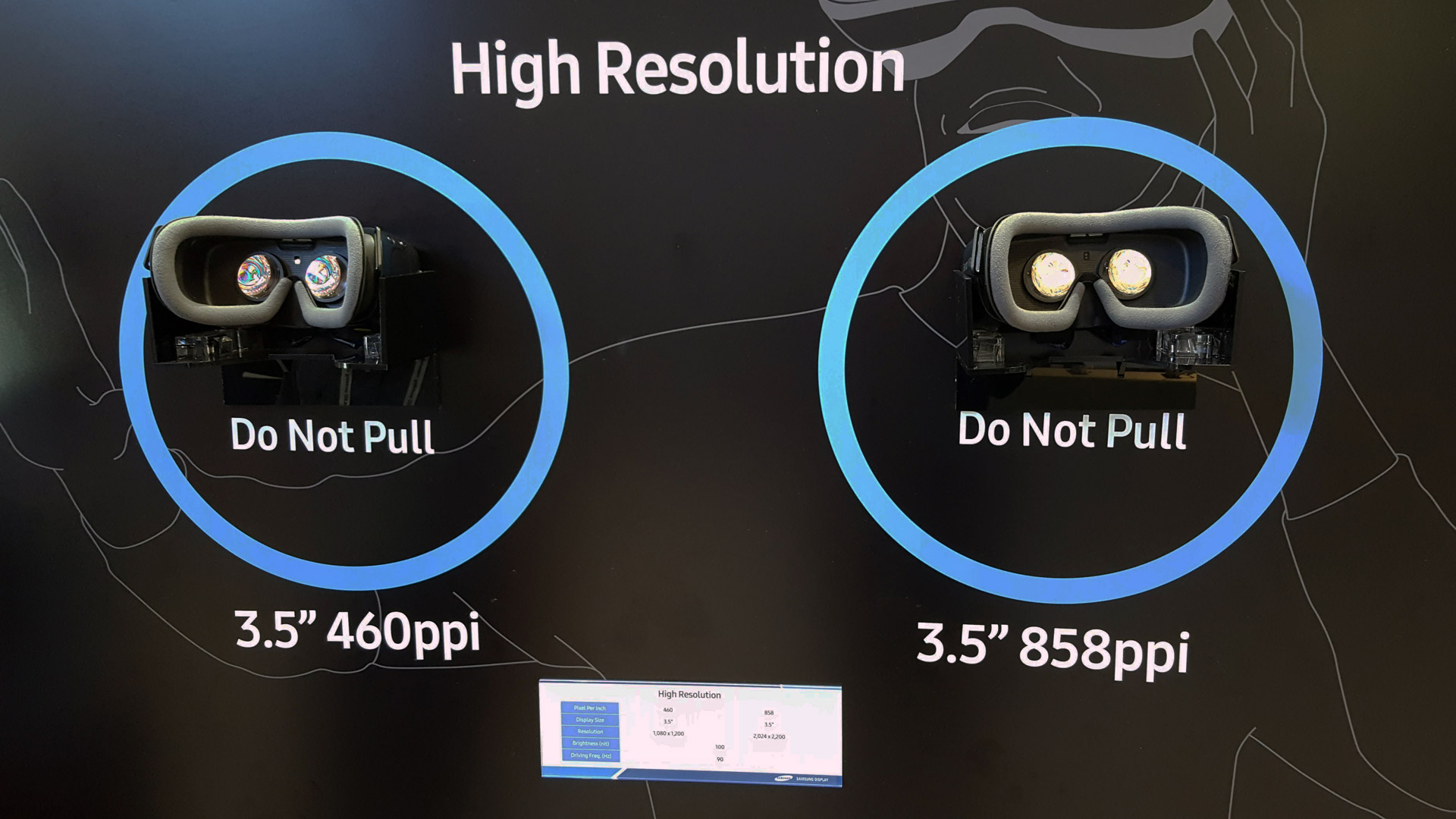a90c9592edf Samsung s New VR Display Has Nearly 3.5x More Pixels Than Rift   Vive