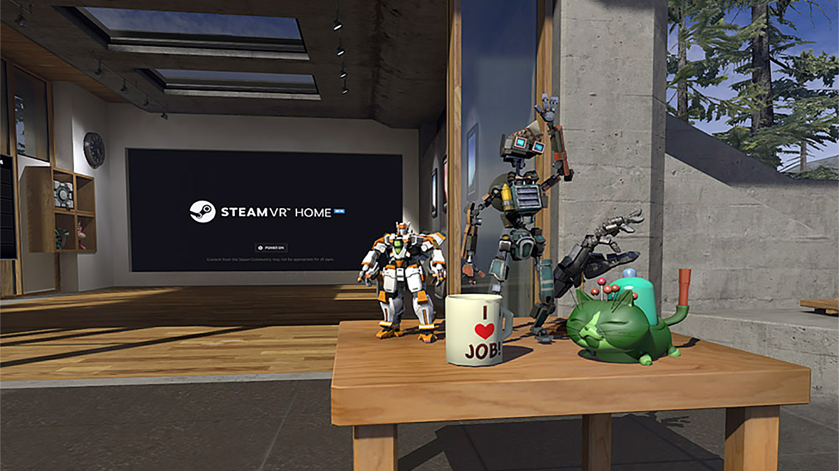 Steamvr home gets virtual collectibles an intriguing for Vr for home