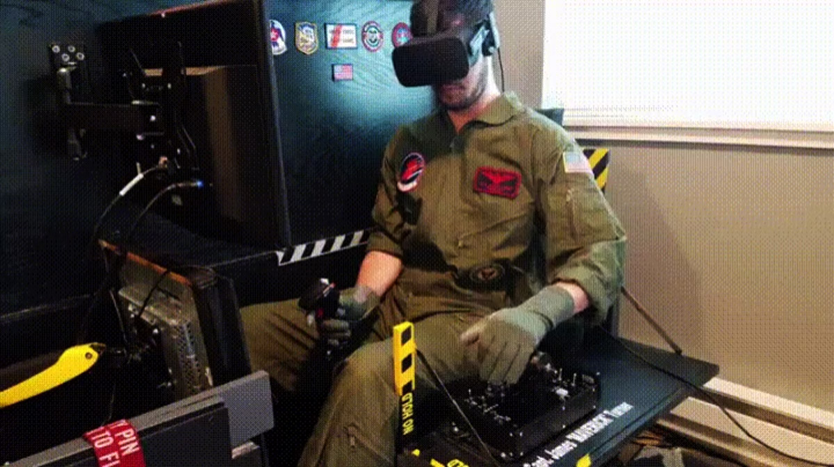 Awesome DIY VR Cockpit Hides a Flight Simulator in Plain Sight