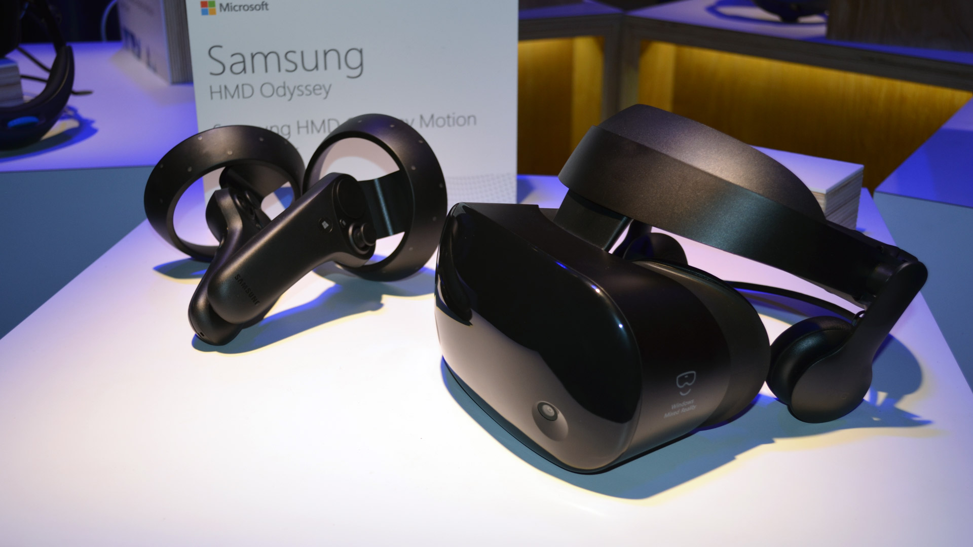 54ed370e61d Hands-on  Samsung Odyssey Windows VR Headset   Controllers