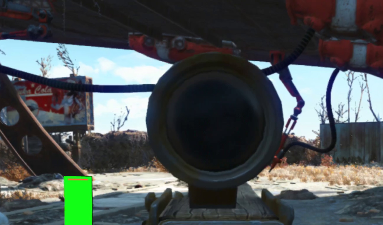 Fallout 4 vr review a radioactive open world mutated for vr fallout 4 vr scope 2 solutioingenieria Image collections