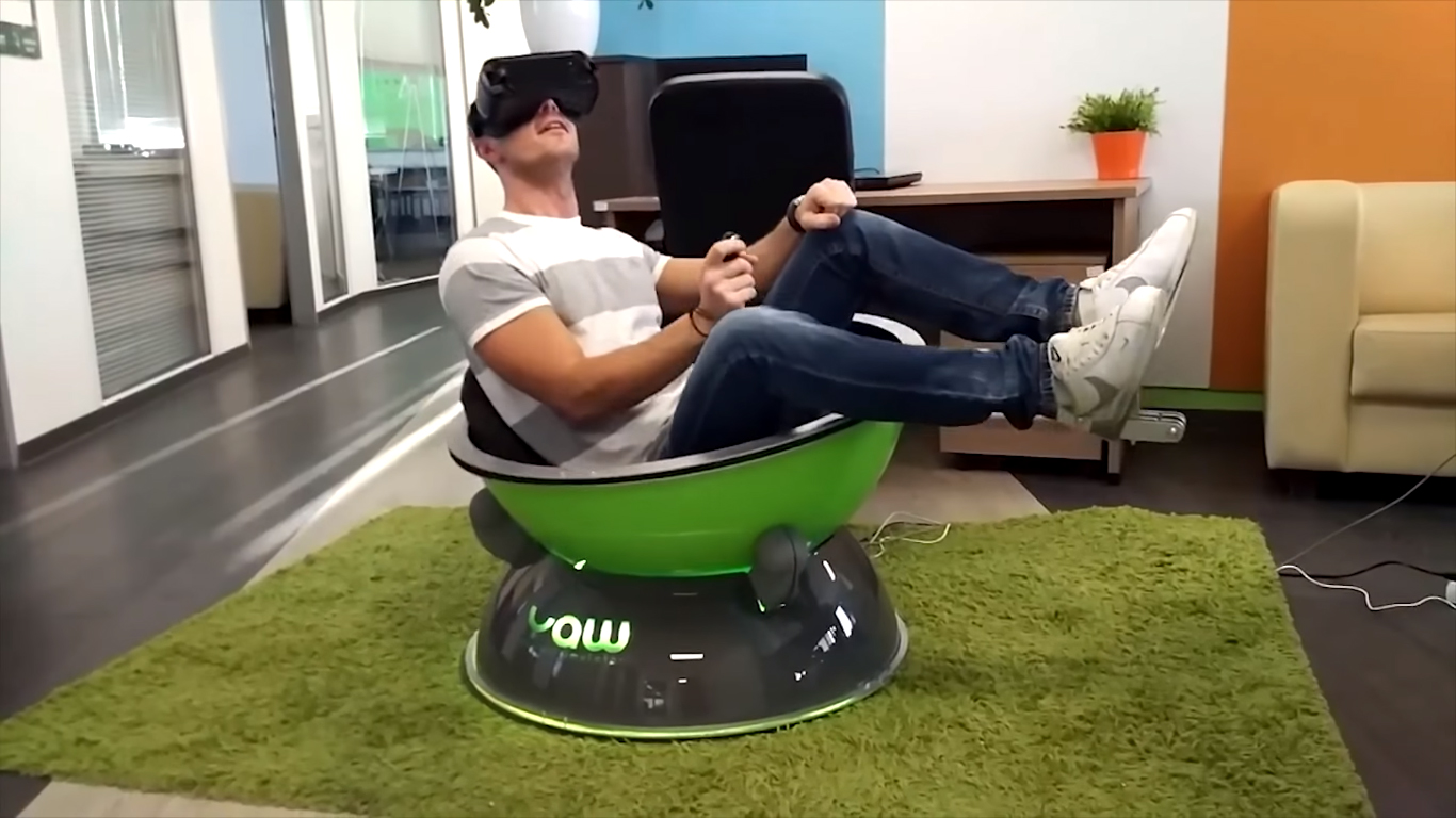Compact Motion Simulator Yaw Vr Reaches Kickstarter