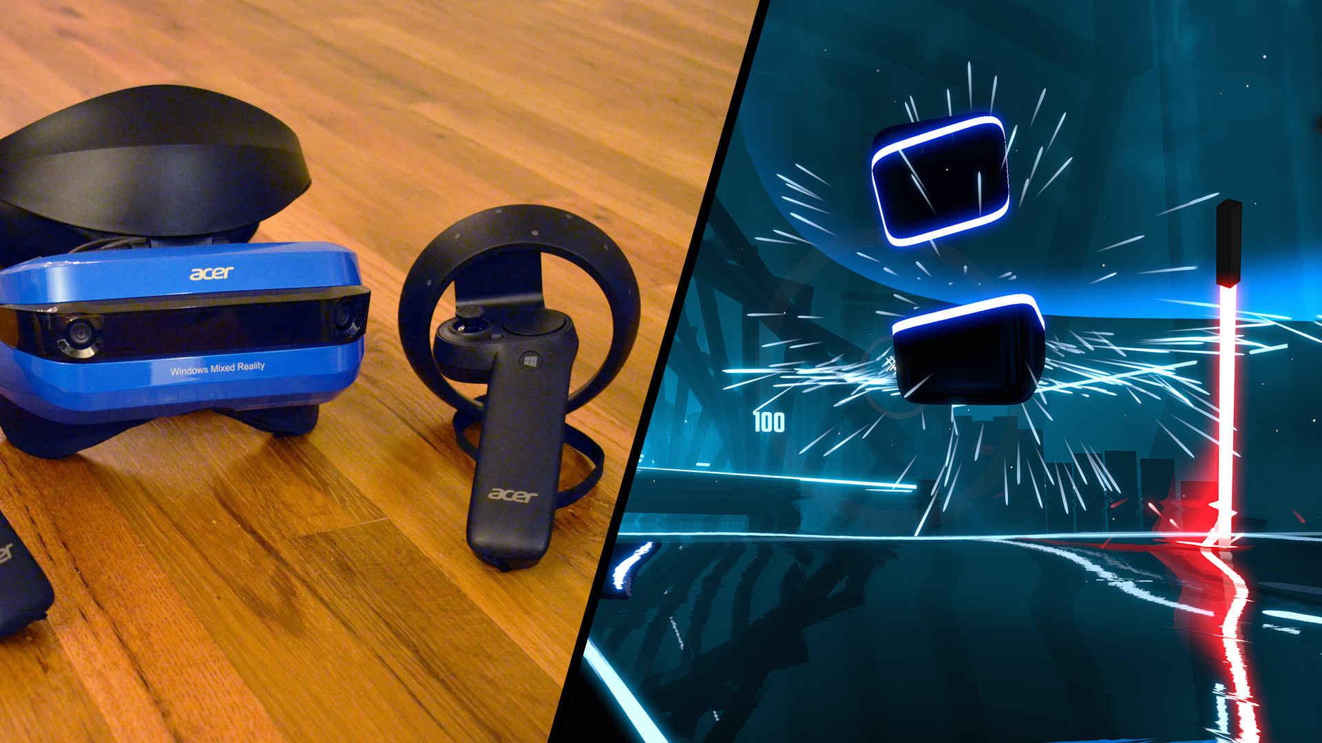 Watch Windows Vr Controllers Stand Up To Beat Saber S