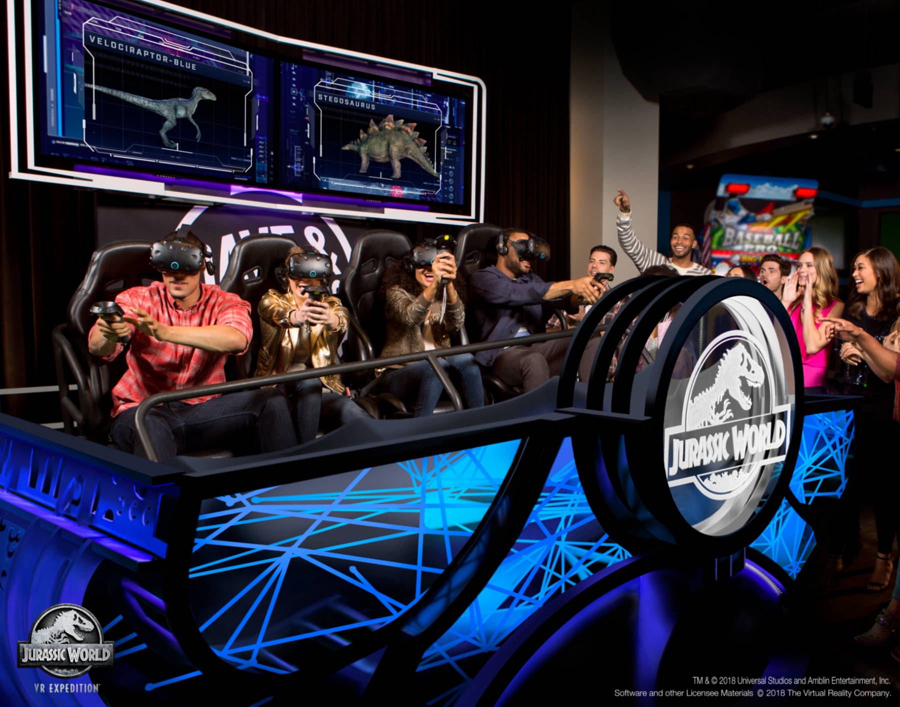 New Jurassic World Vr Game To Debut At Dave Amp Buster S
