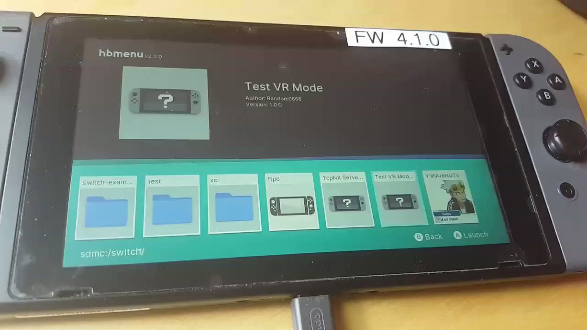 2efb5652fa7 Nintendo Switch  Test VR Mode  Reportedly Uncovered by Modders