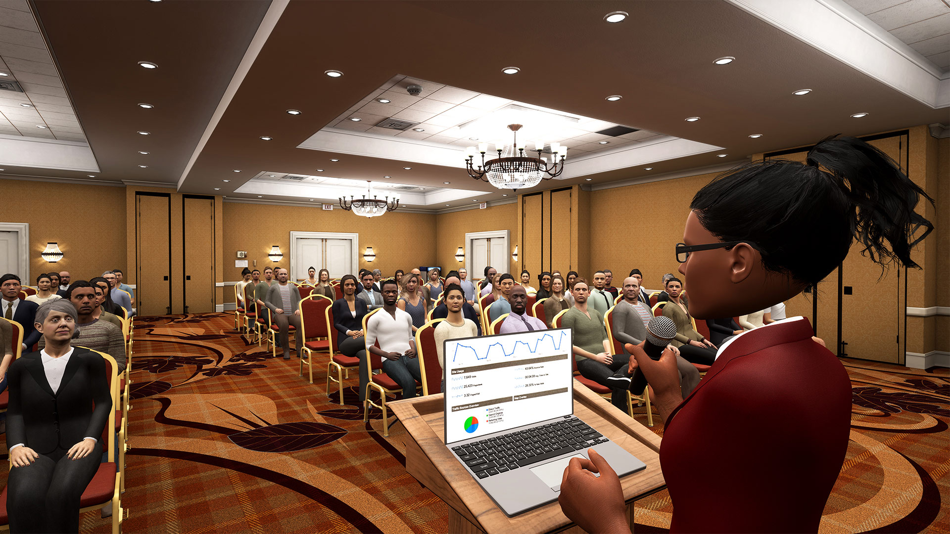 'Ovation' is a Powerful VR Public Speaking Sim Designed for Professional Training