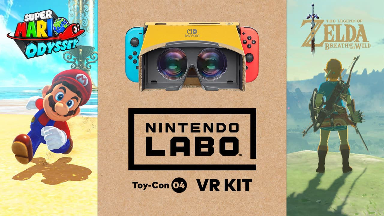 'Mario Odyssey' & 'Zelda Breath of the Wild' to Support Switch VR Kit