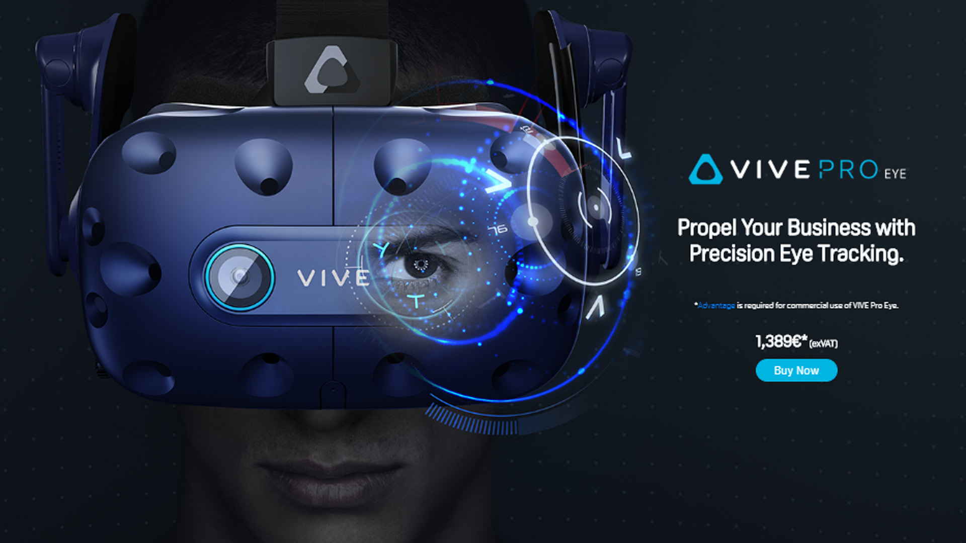 Vive Pro Eye Now Available in Europe, Starting at €1,700