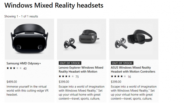 Most Windows VR Headsets Have Vanished from the Microsoft Store 1