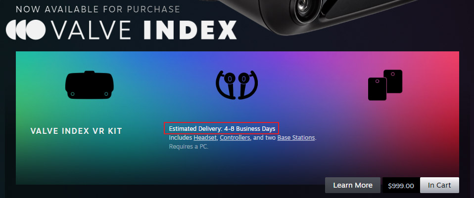Valve Index Now Available In 31 Countries Including Canada Japan