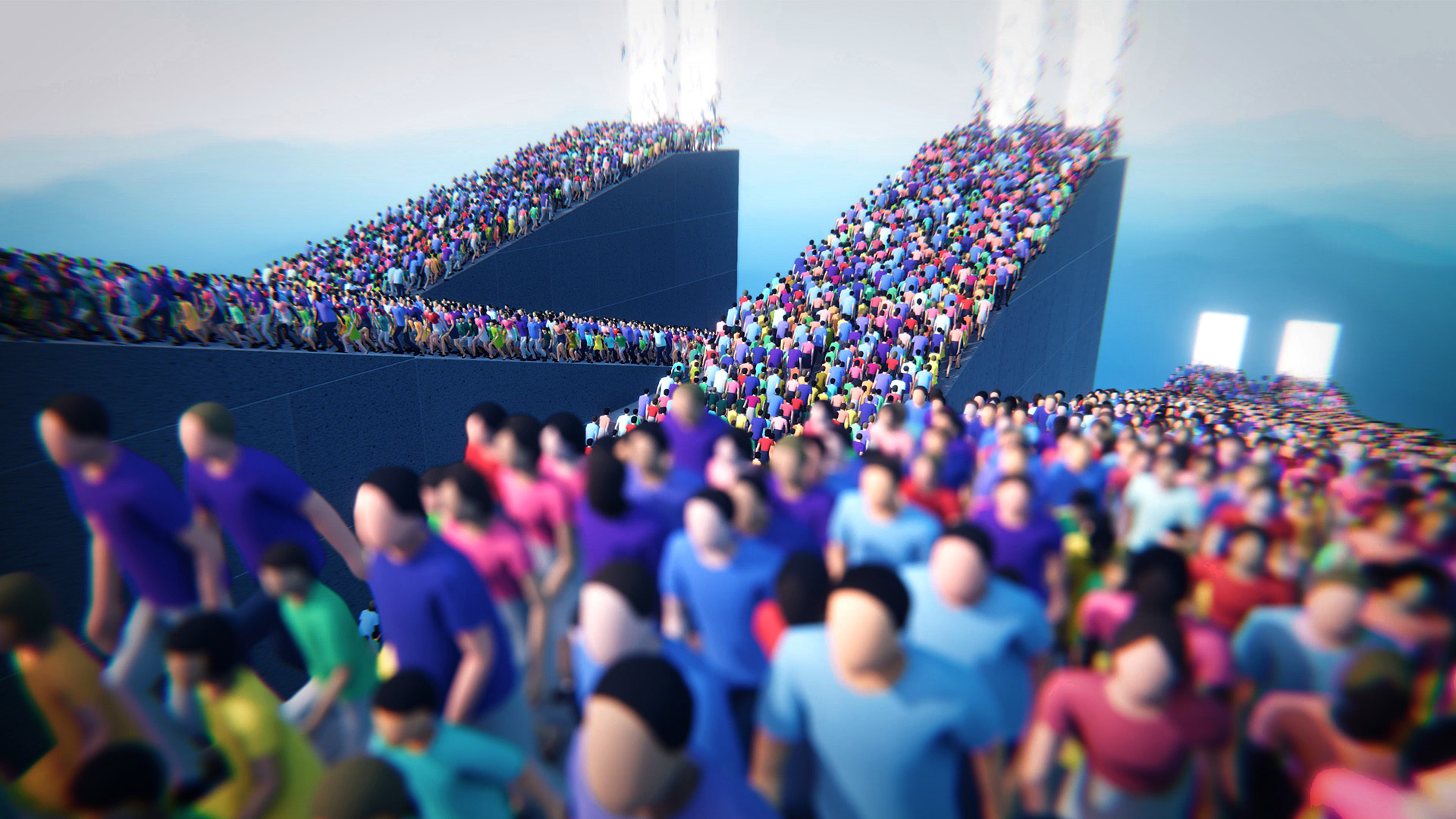 Psvr Games 2020.Humanity Makes Gameplay From Massive Crowd Simulation