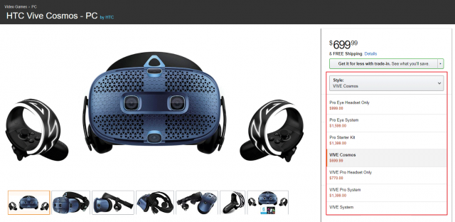 Vive Cosmos is the Lowest Rated HTC Headset on Amazon by Far 1