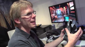 Carmack demo's an early  Oculus Rift prototype at E3 2012