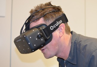 Me, trying the Crystal Cove prototype at CES 2014