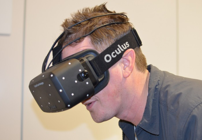 ces 2014 oculus rift crystal cove prototype interview palmer luckey nate mitchell low persistence positional tracking