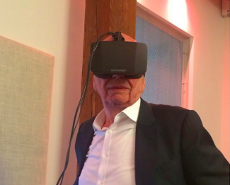 Rupert Murdoch catches a glimpse of the future.