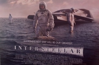 Photo of the Interstellar poster that had the air compressor behind it.