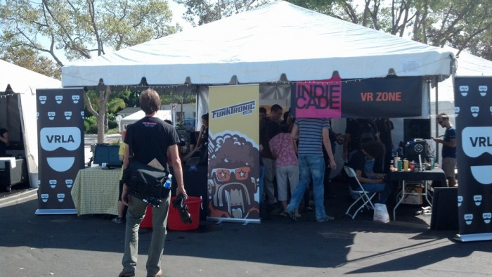 vr zone vrla booth at indiecade