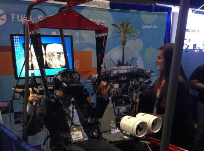 Twitter user @rickzilla posted this pic of the parachuting VR experience